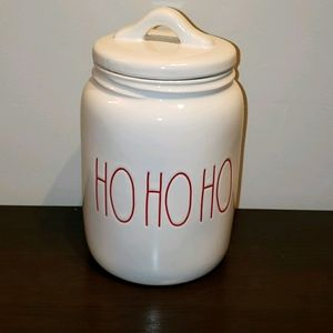 "Rae dunn "" HO HO HO "" Christmas Canister"